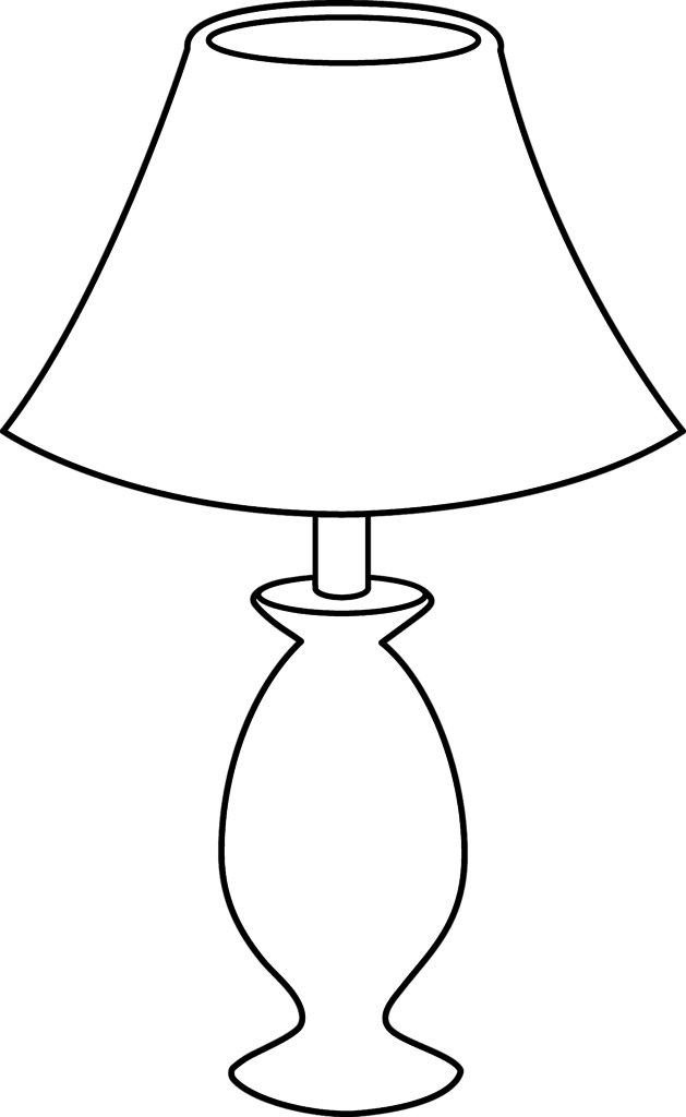 Lamp Shade Clipart Black And White.