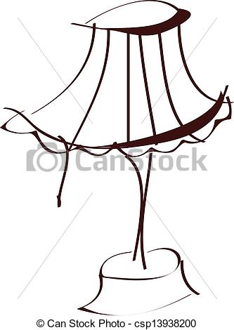 Vector Clipart of A lampstand csp13938200.