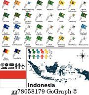 Lampung Map Vector Clip Art.