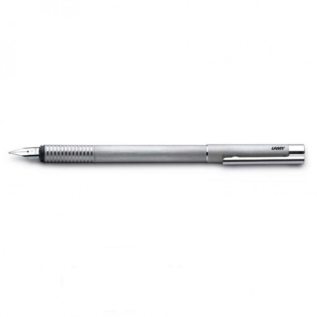 Lamy Logo Brushed Stainless Steel Fountain pen.