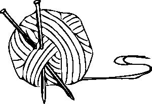 Knitting Yarn Needles 1 Clip Art at Clker.com.