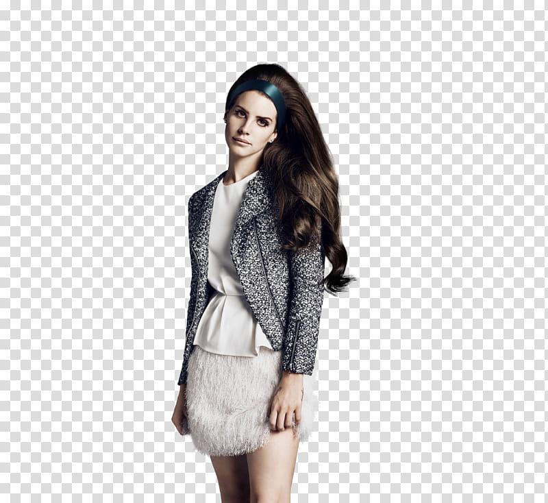 Lana Del Rey, woman wearing black and white blazer.