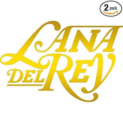 Amazon.com: NBFU DECALS Lana DEL Rey Logo (Metallic Gold.