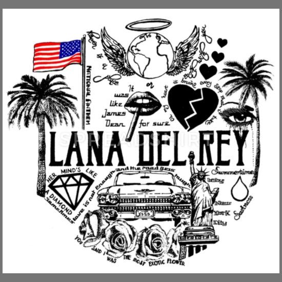 Lana Del Rey Men\'s Longsleeve Shirt.