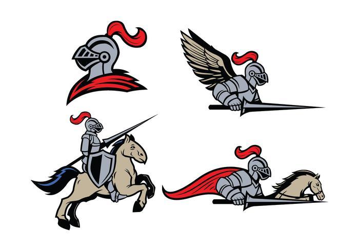 Lancers Mascot Vector.