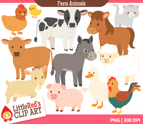 Animals in land clipart.