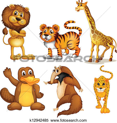 Land animal Clip Art and Illustration. 3,939 land animal clipart.