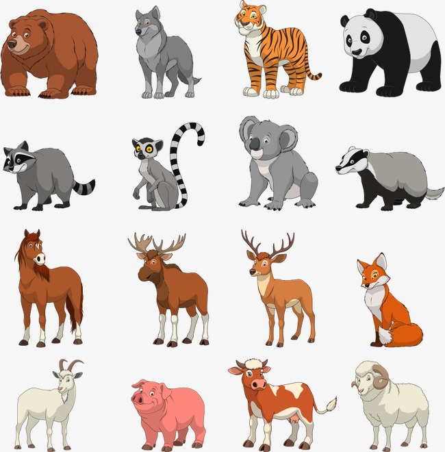 Terrestrial Animals Clipart.