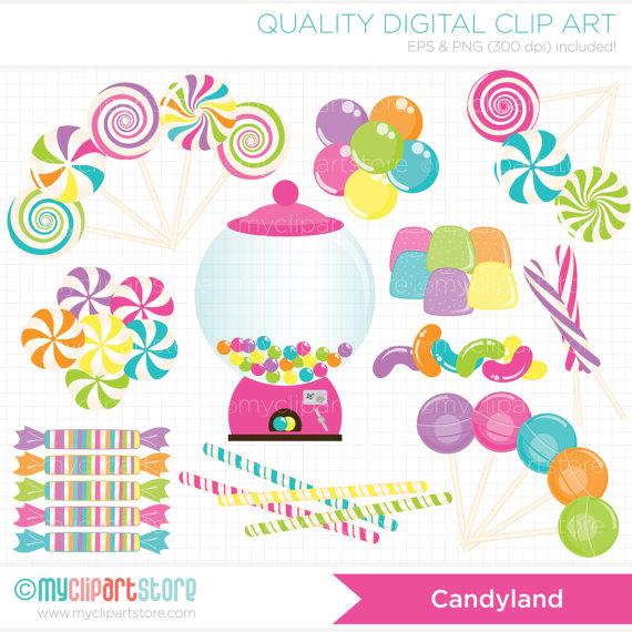 Candy Land Clip Art.