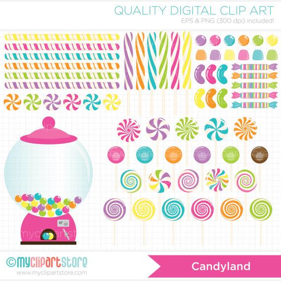 Candyland border clip art.