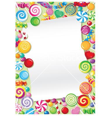 Candy clip art border.