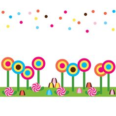 Candy Land Theme Clipart.