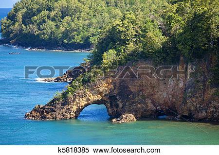 Stock Image of land bridge, st lucia k5818385.