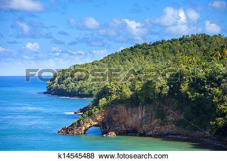 Pictures of land bridge on st lucia k14545488.