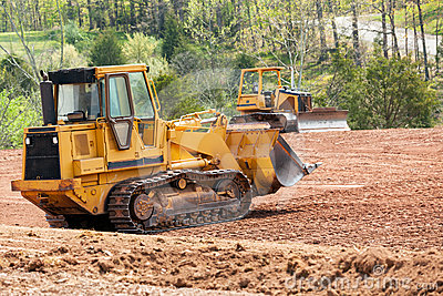 Clearing Of Land For Housing Development In Charlotte, North.