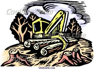 Clear cut logging Clip Art.
