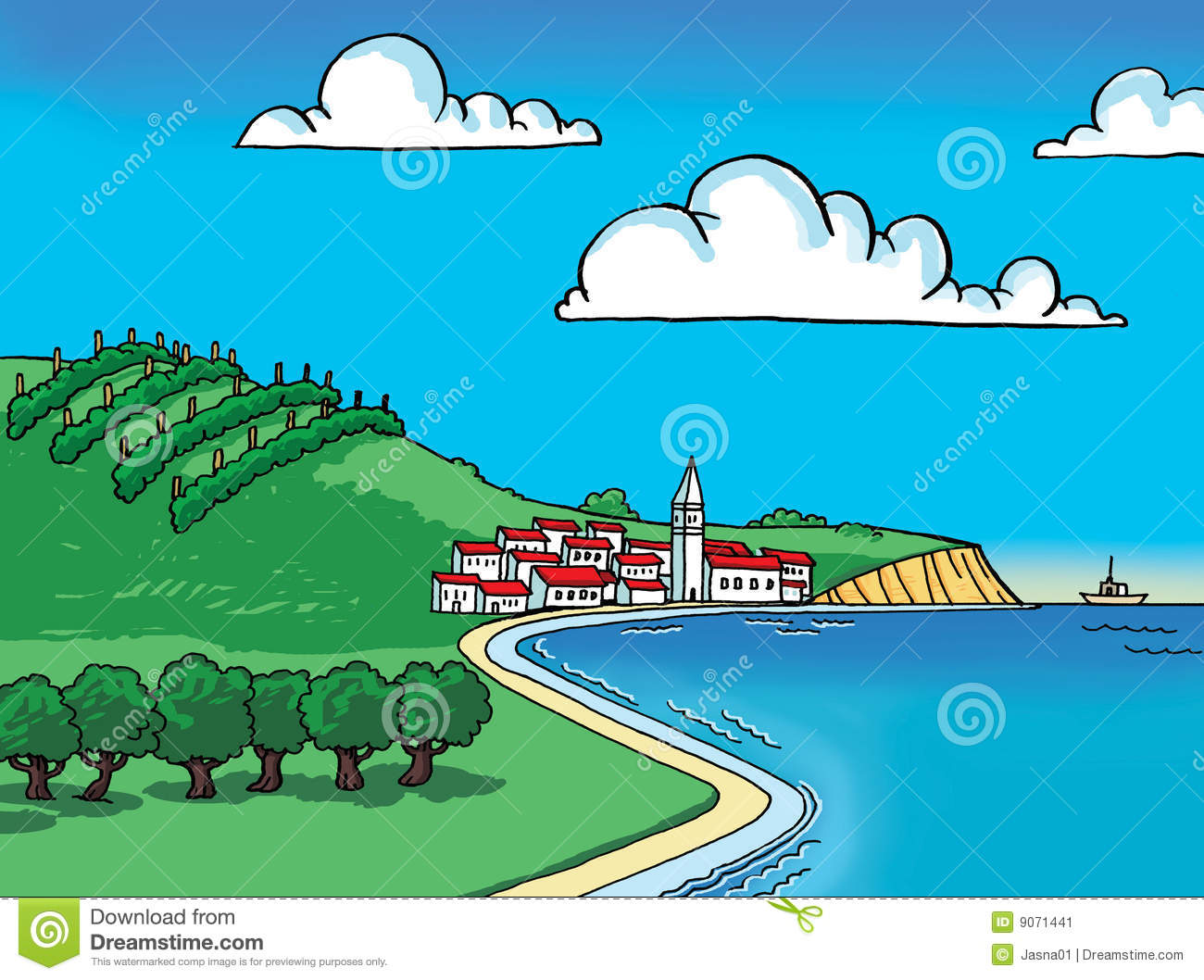 Land And Sea Clipart.