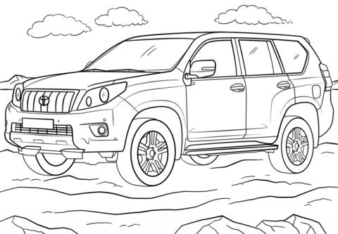 Toyota Land Cruiser Prado coloring page.