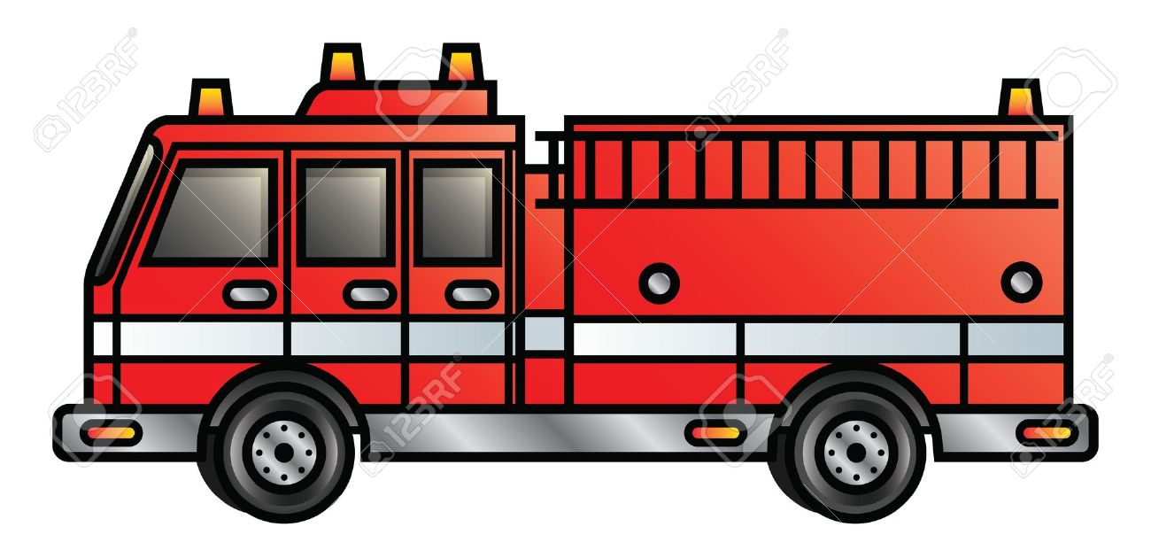 Illustration Of A Cartoon Fire Engine Royalty Free Cliparts.