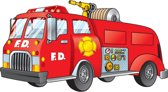 Fire Engine Clip Art.