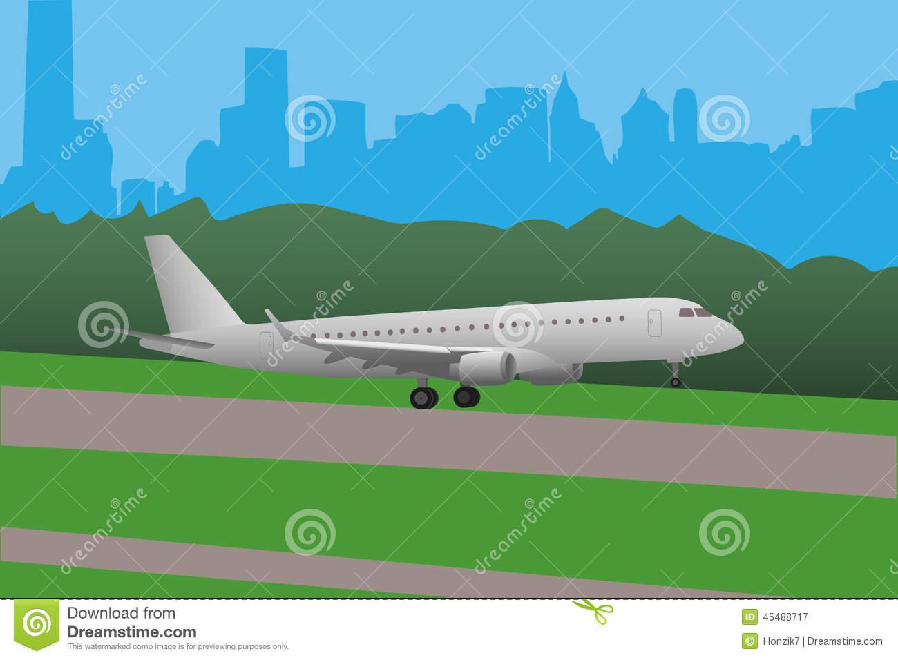 Landing plane clipart.