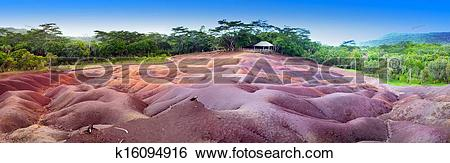Stock Images of The most famous tourist place of Mauritius.