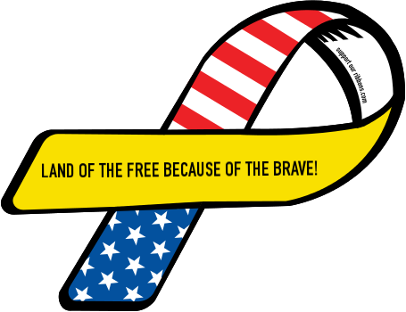 LAND OF THE FREE BECAUSE OF THE BRAVE!.
