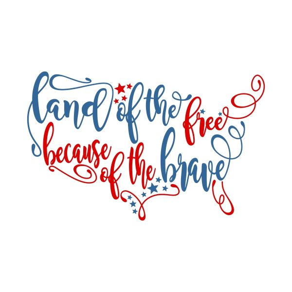 LAND of the FREE Cuttable Design Cut File. Vector, Clipart.