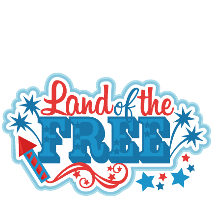 Land of the Free Title SVG scrapbook cut file cute clipart.
