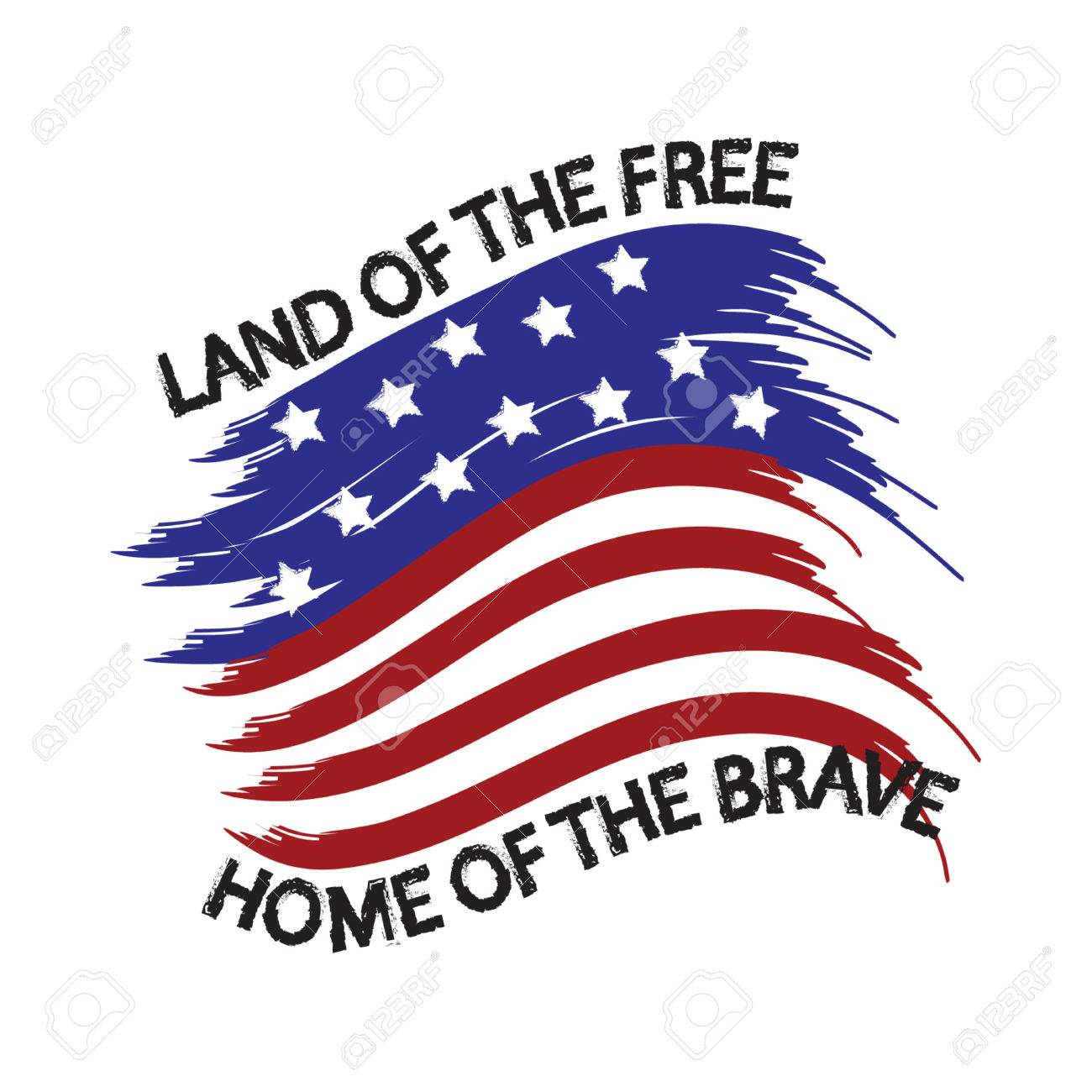 United States of America Land of the Free Home of the Brave.