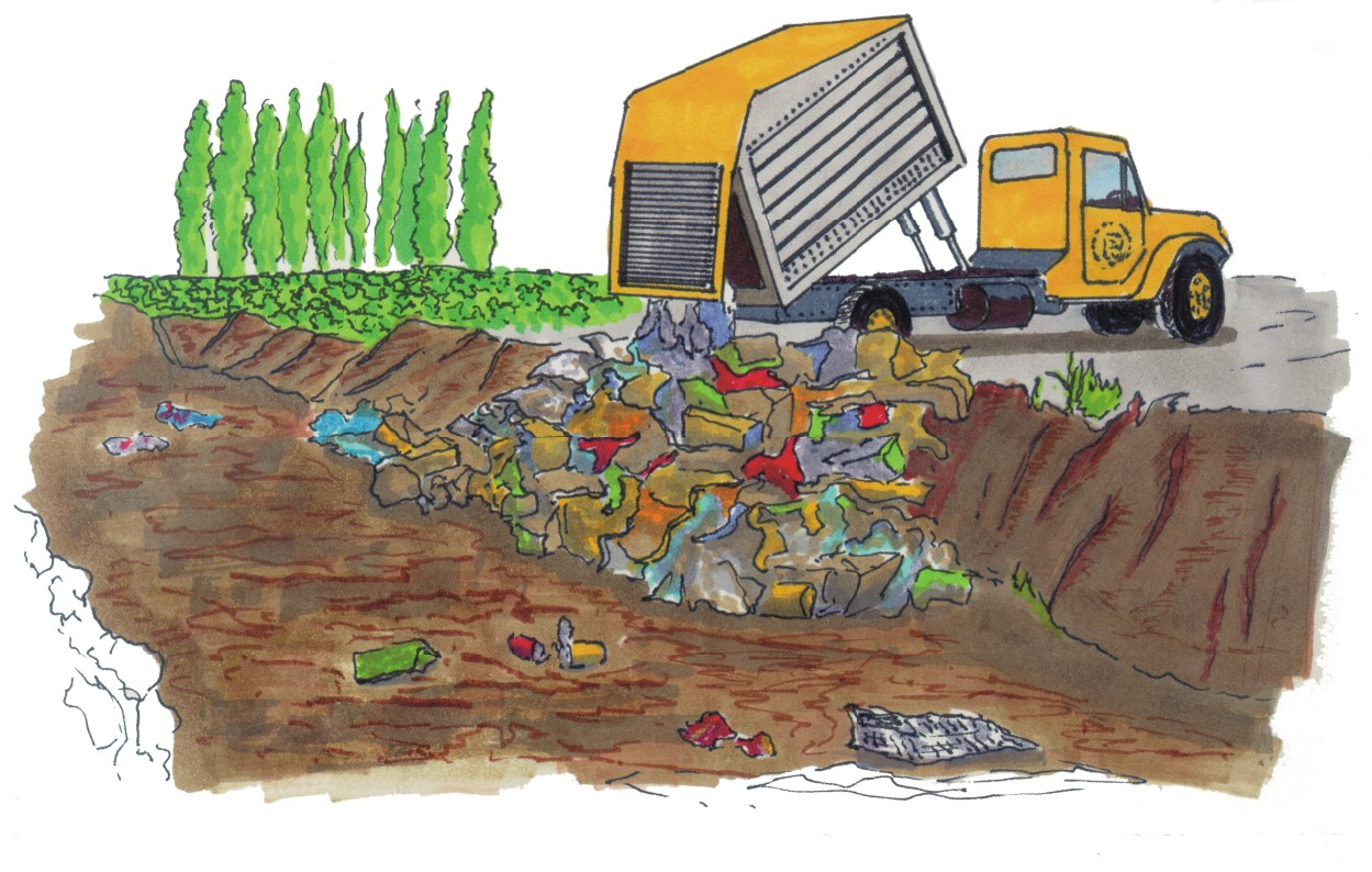 Land Pollution Sketches Causes Of Land Pollution Clipart.