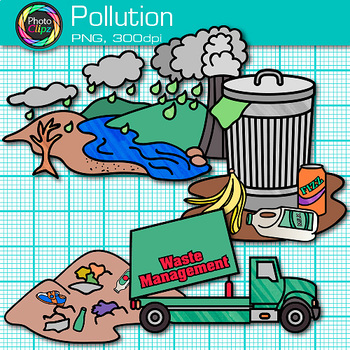 Pollution Clip Art {Earth Conservation of Land, Water, & Air, Science  Resources}.