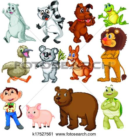 Clipart of Land animals k17527561.
