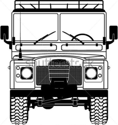 Safari Land Rover Front of The Vector stock vector.