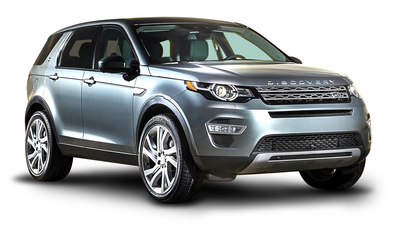 Land Rover Discovery Silver Car PNG Image.