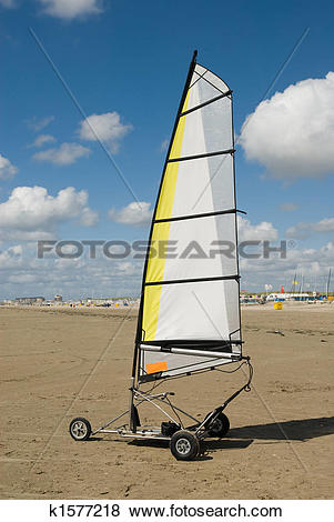 Pictures of land sailing on the beach k1577218.