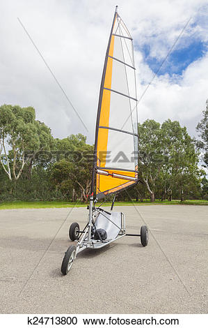 Stock Photography of Empty blokart for land sailing in a park.