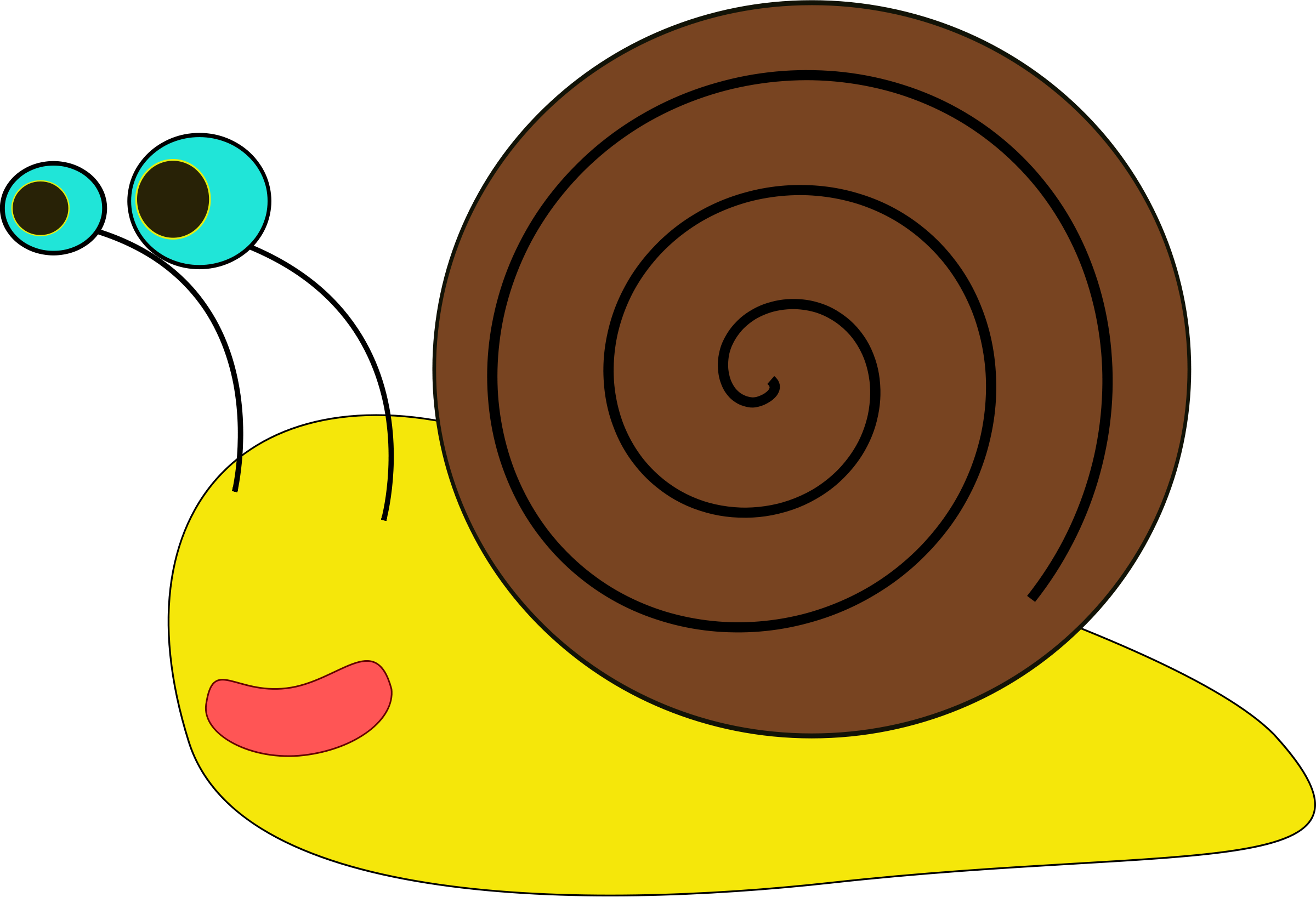 Snail Black And White Clipart.