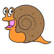 How To Draw INSECTS LAND SNAIL Clipart.