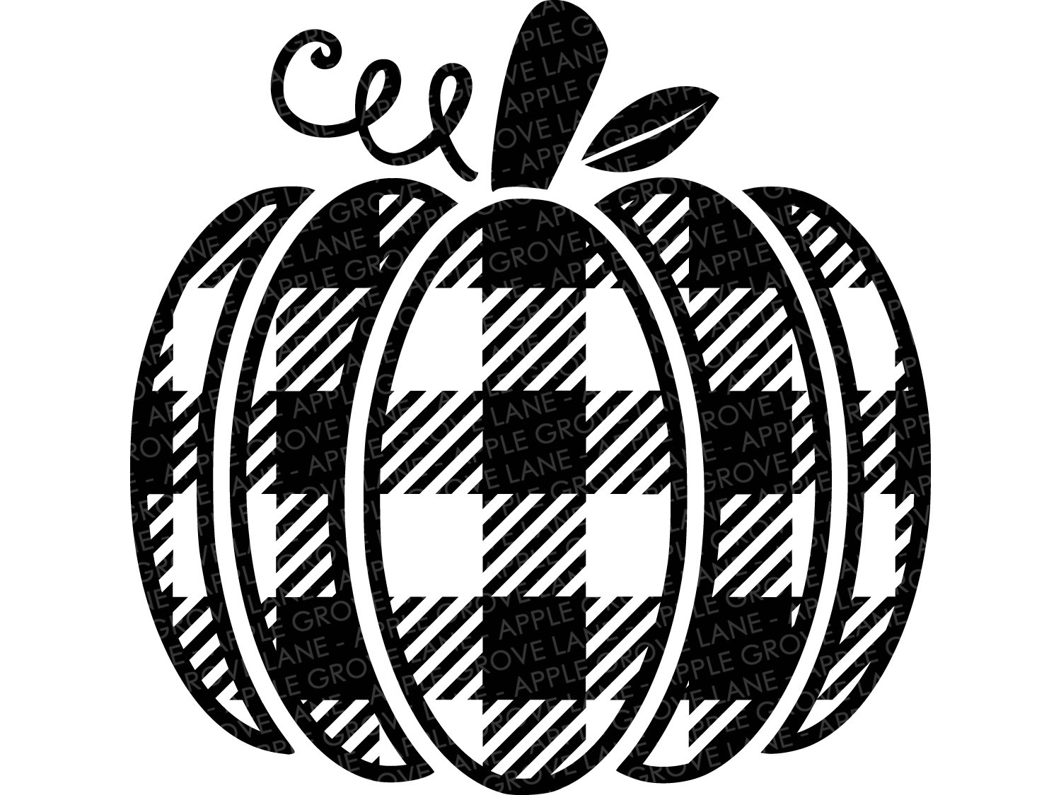 Buffalo Plaid Pumpkin Svg.