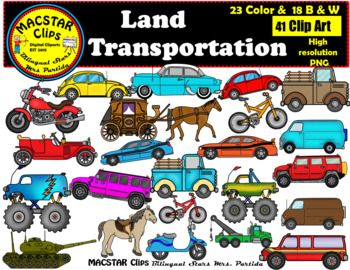 Land Transportation Clip Art Personal & Commercial Use 41.