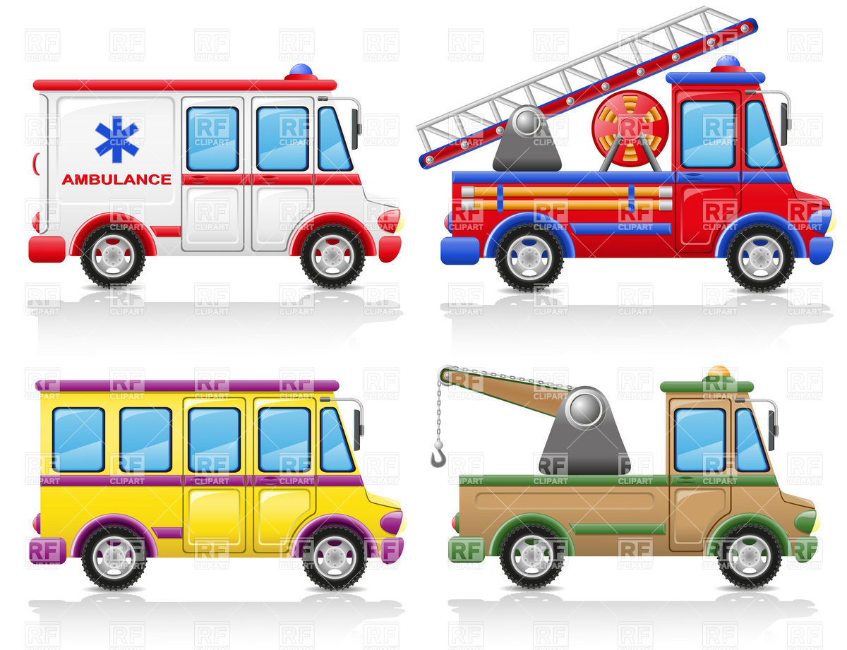 Service vehicles icons.