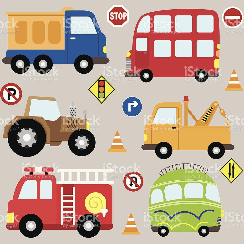 Cartoon Vehicles Transport Set stock vector art 452236065.
