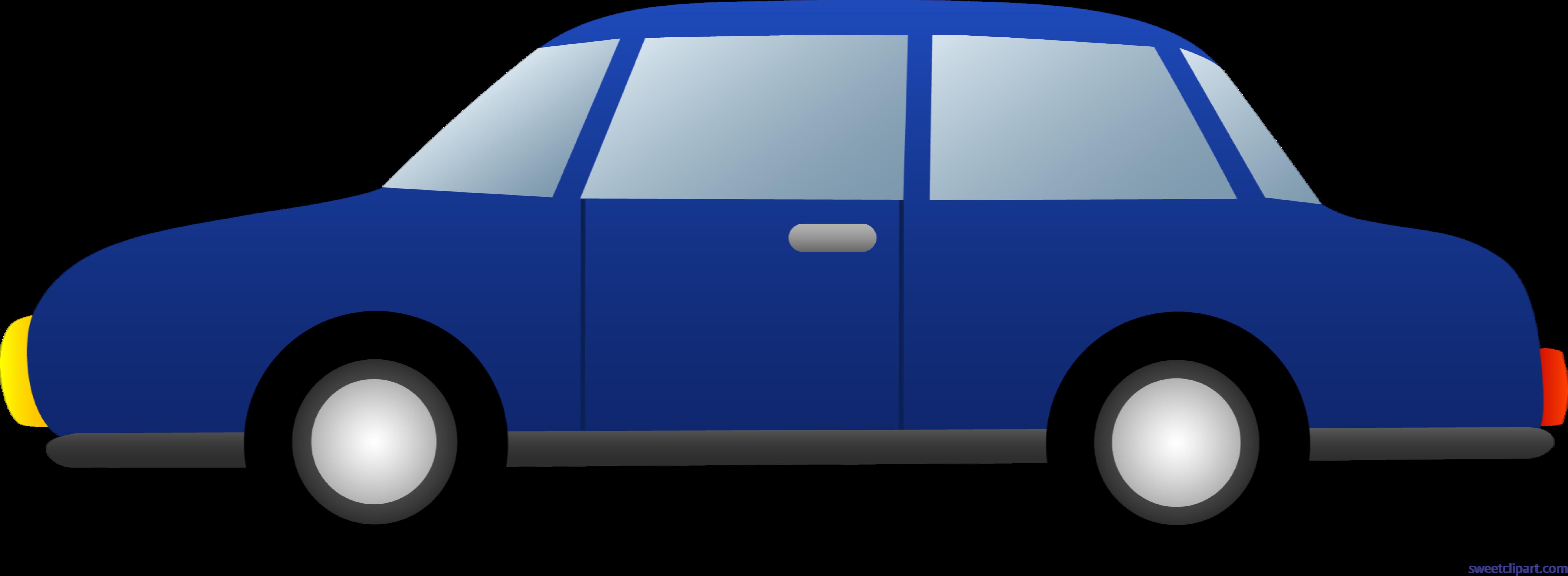 Car Sedan Blue Clip Art.