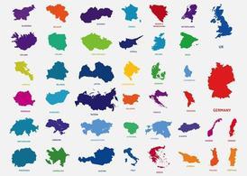 Länder In Europa, Clipart.