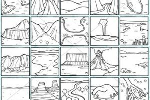Landforms clipart black and white » Clipart Portal.