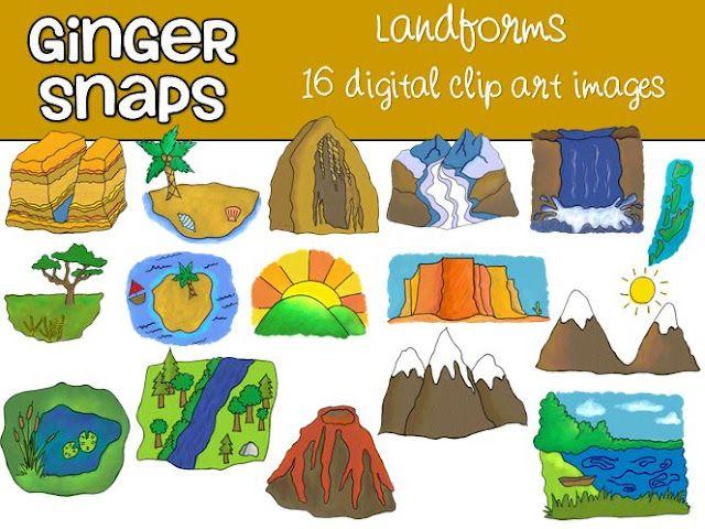 Ginger Snaps Clip Art: Landforms Clip Art.