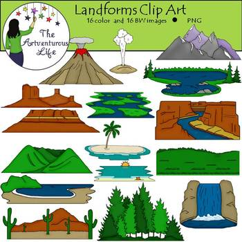 Landforms Clip Art.