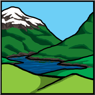 Clip Art: Landforms 1 Color Unlabeled I abcteach.com.