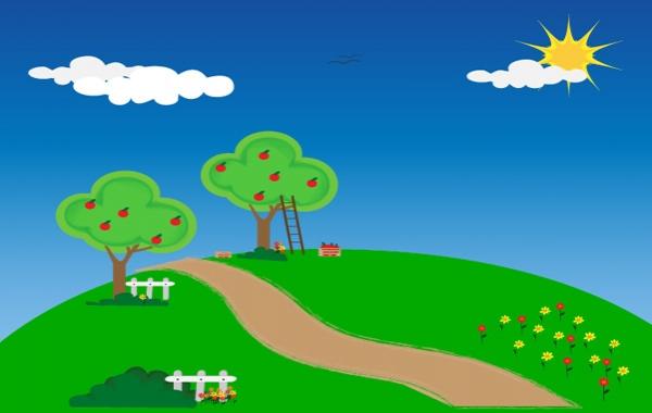 apfelbäume cliparts, clipart.